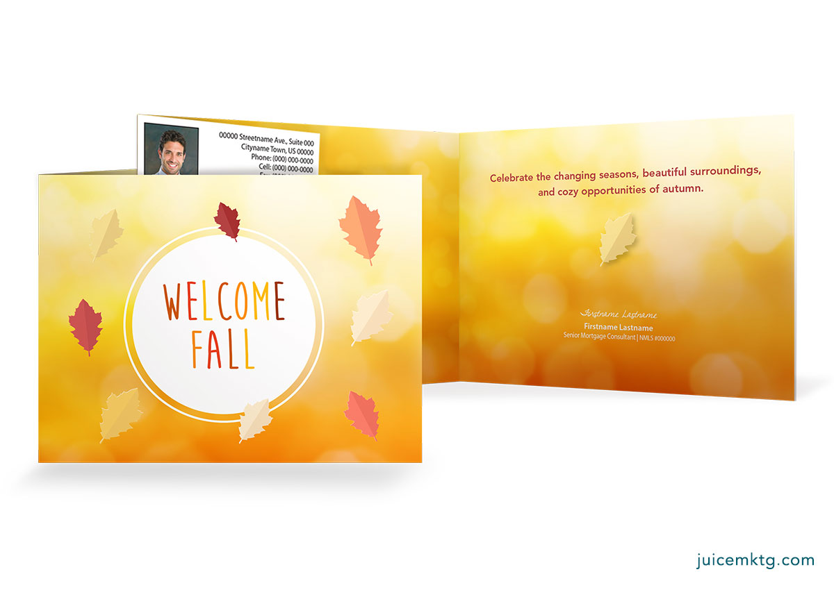 Welcome Fall - Folded Card
