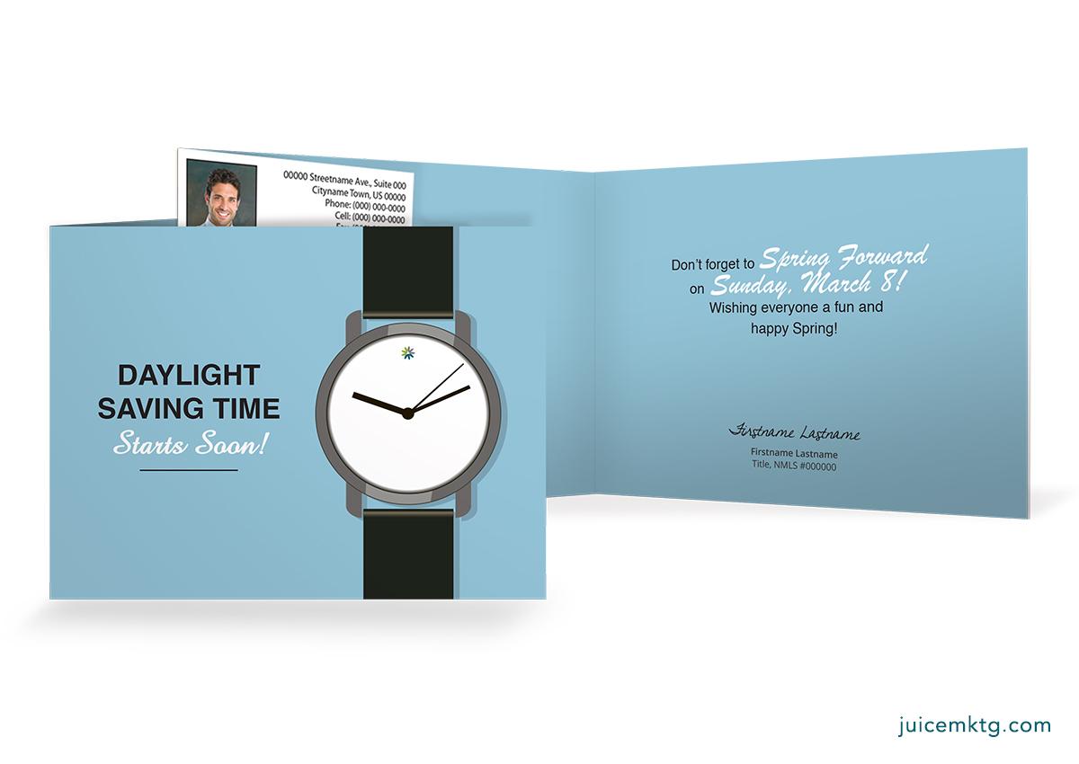 Daylight Saving - Watch - Folded Card