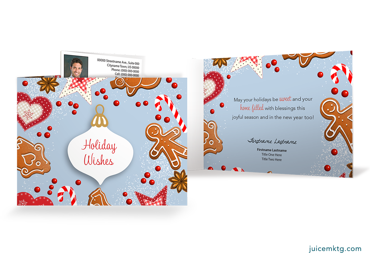 Holiday Wishes - Cookies - Folded Card