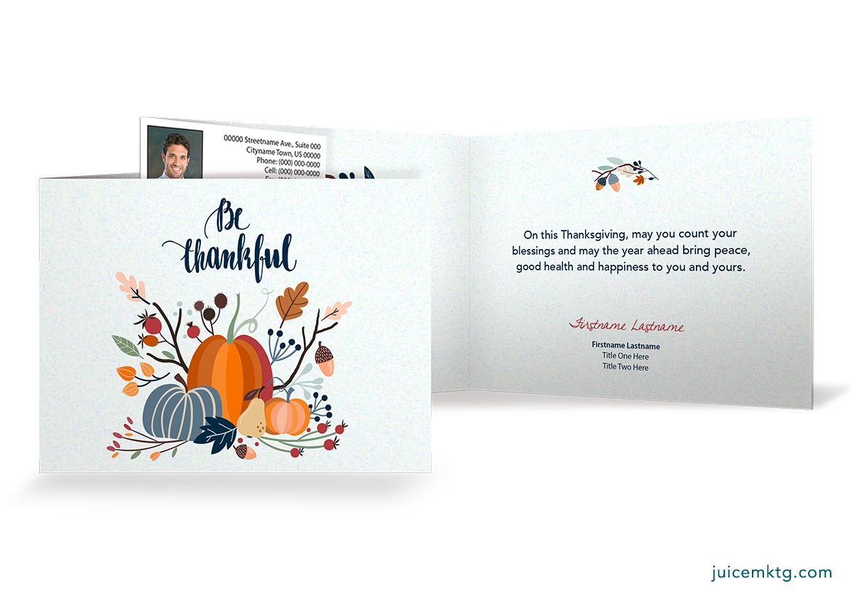 Thankful - Folded Card (Thanksgiving to New Year's)