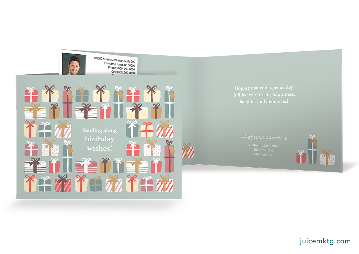 Birthday Presents - Folded Card