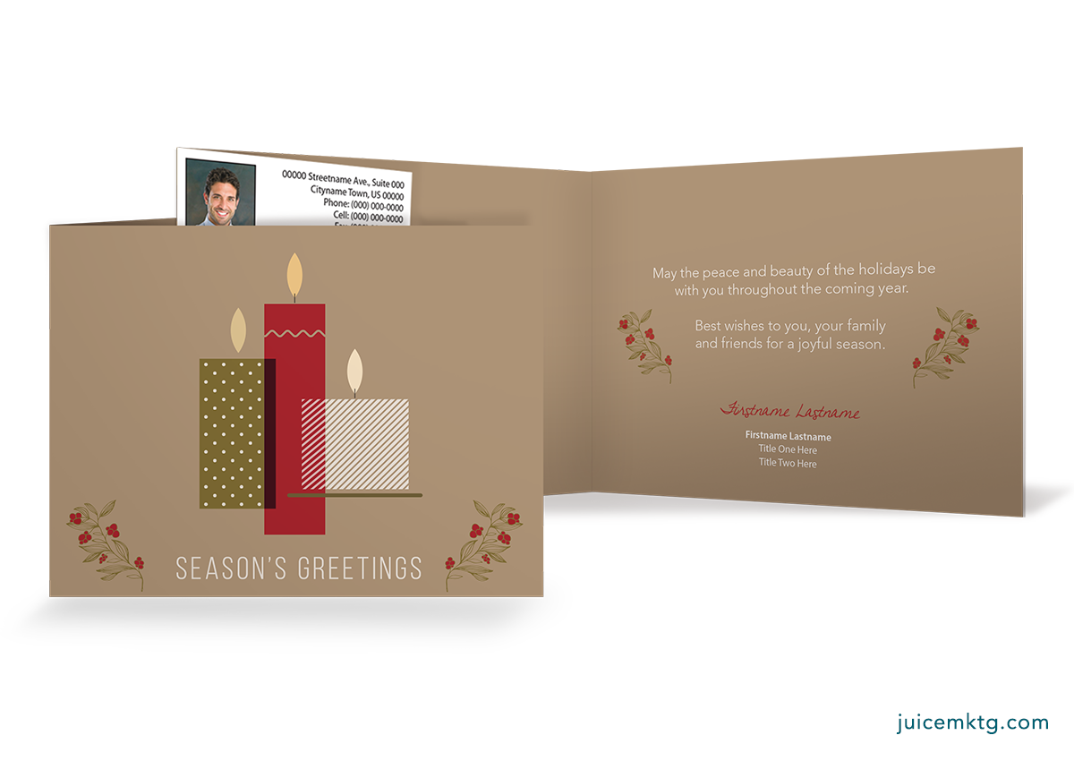 Seasons Greetings - Candles - Folded Card
