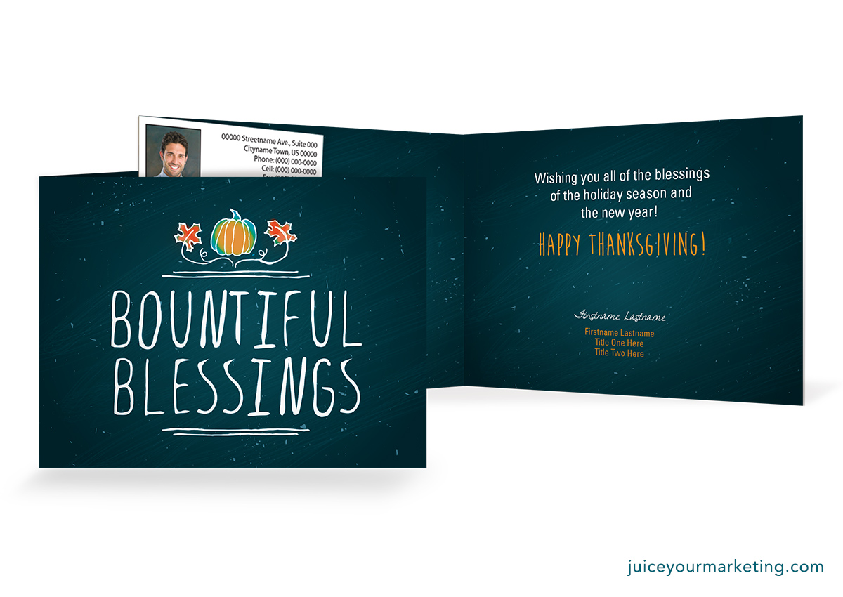 Holiday Season Bountiful Blessings Card