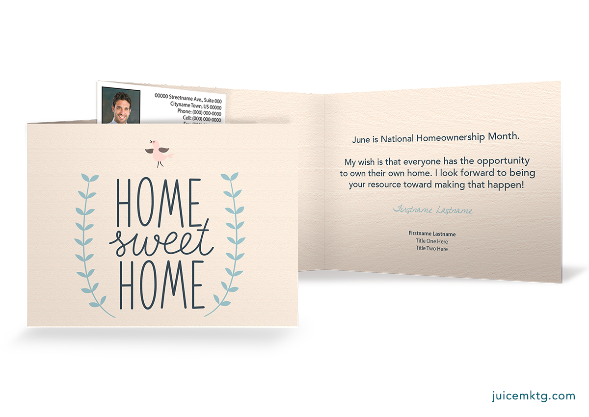Homeownership Month - Home Sweet Home - Folded Card