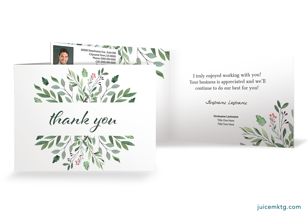 Thank You - Greenery - Folded Card