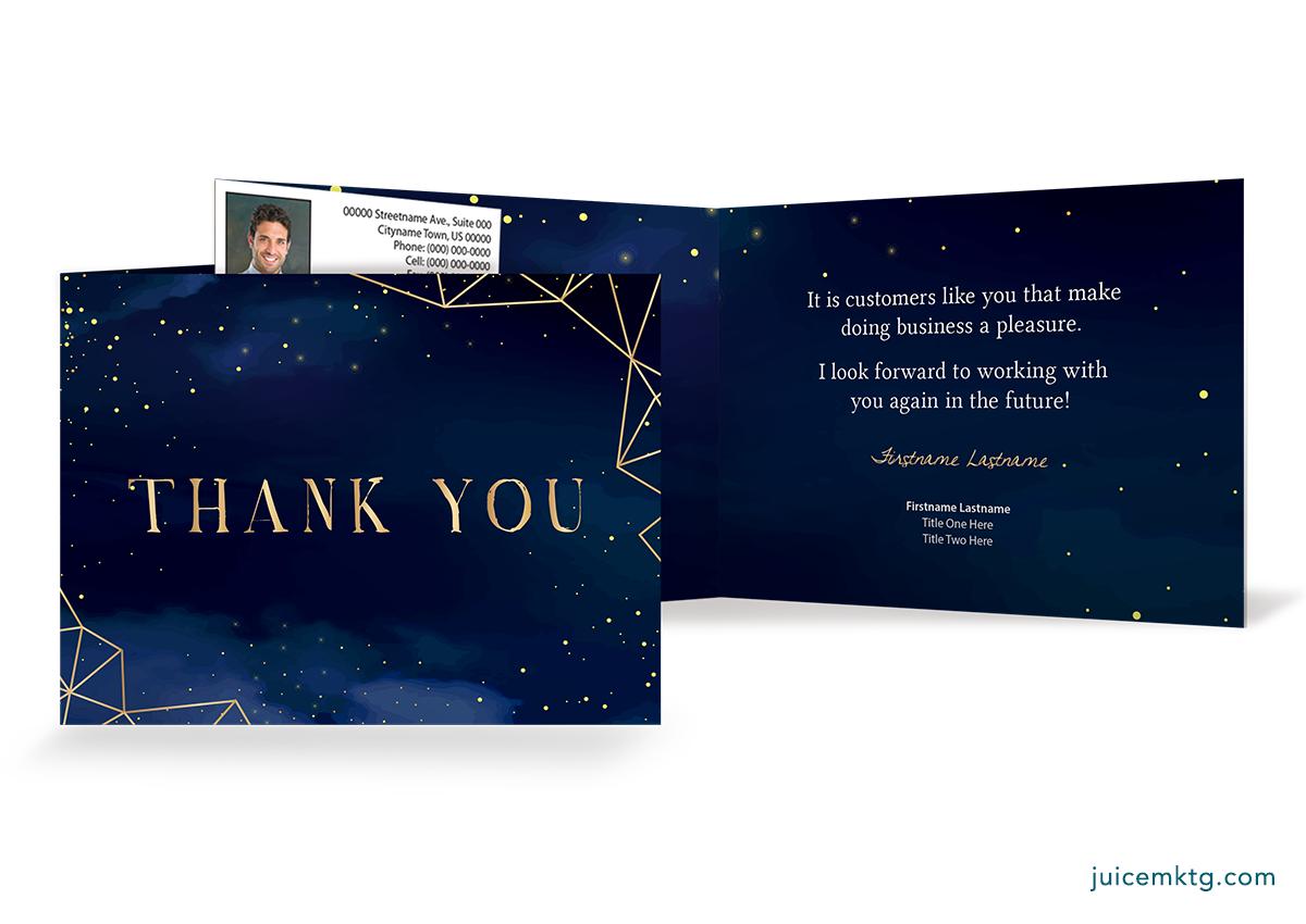 Thank You - Nightsky - Folded Card