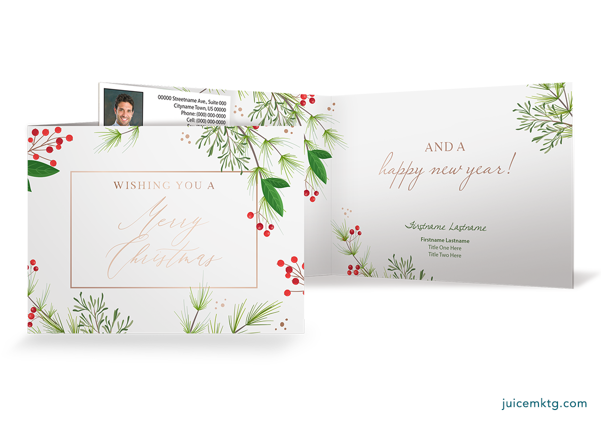 Christmas Greenery - Folded Card