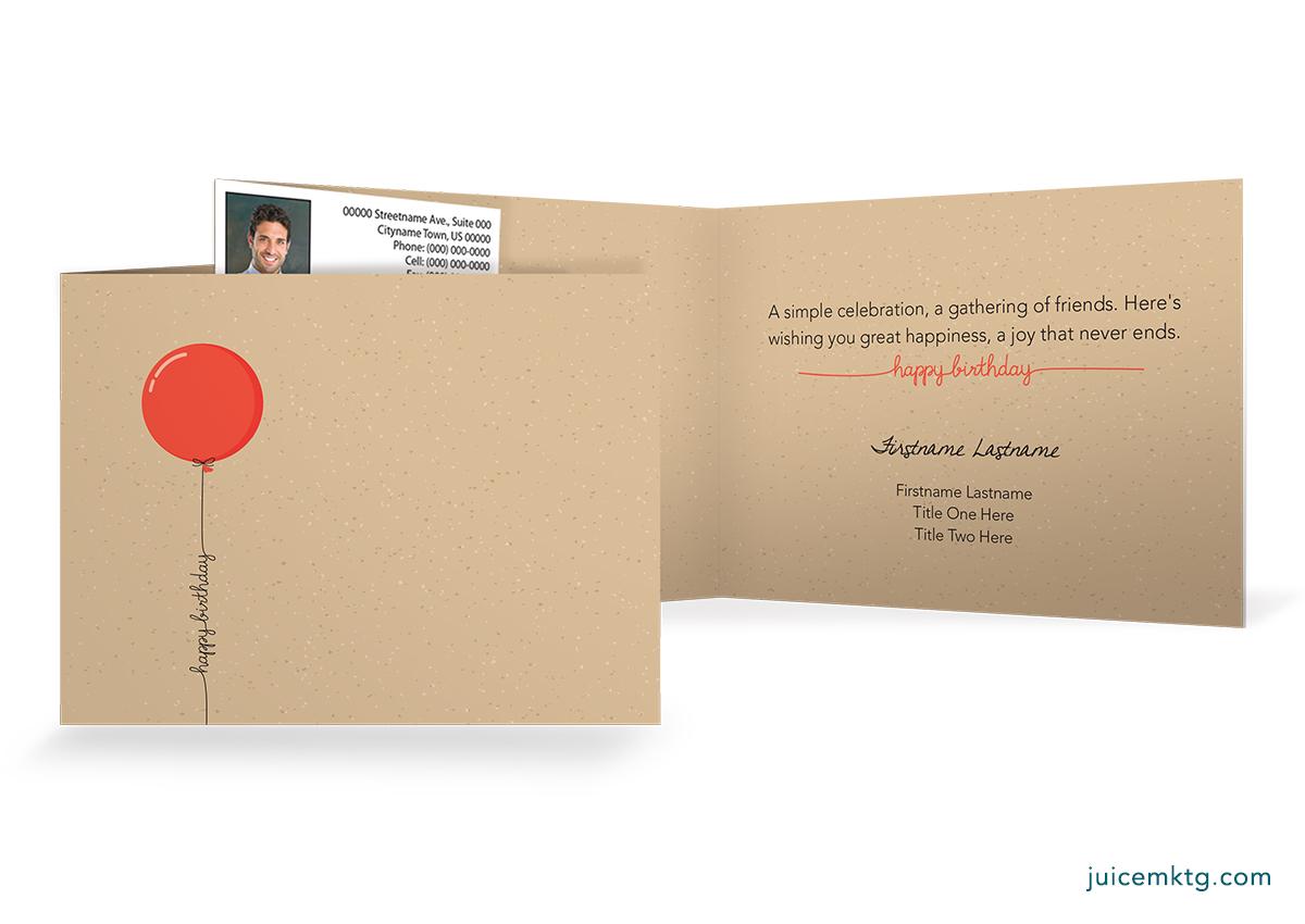 Simple Balloon - Folded Card