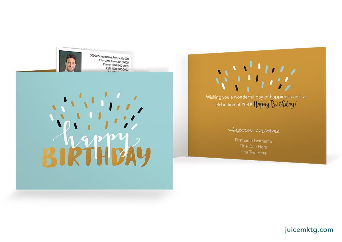 Confetti - Folded Card