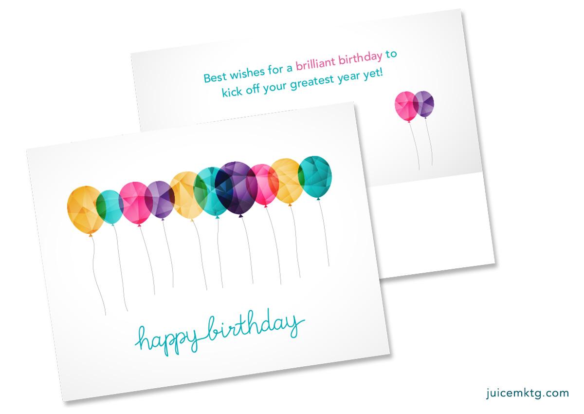 Happy Birthday Balloons - Postcard
