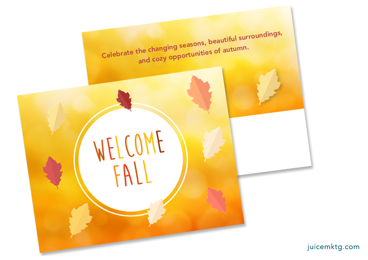 Welcome Fall - Postcard