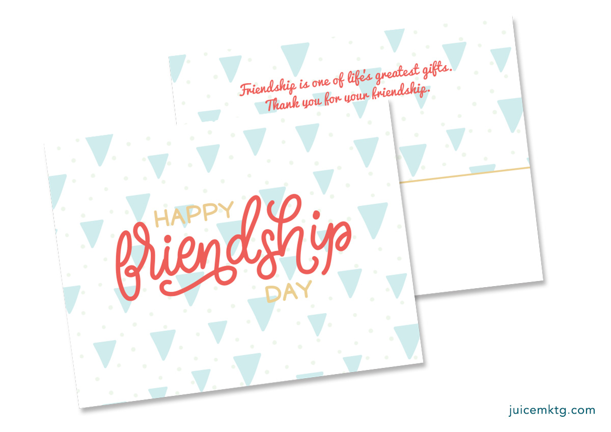 Friendship Day - Postcard