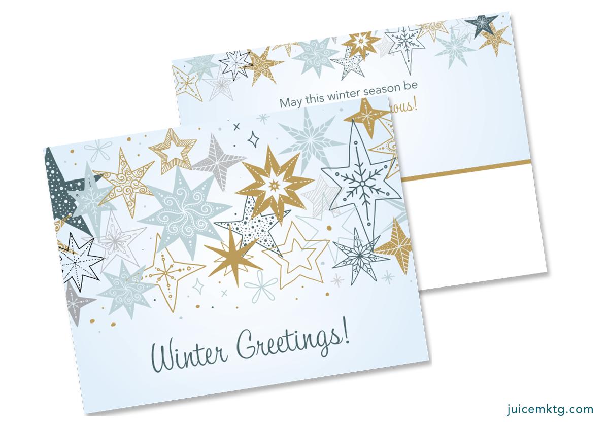 Winter Greetings - Postcard