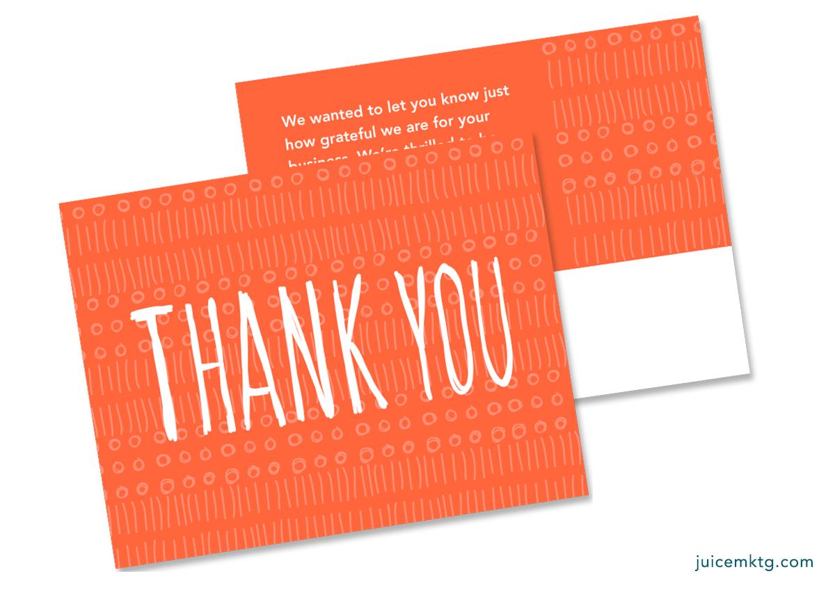 Thank You - Orange - Postcard