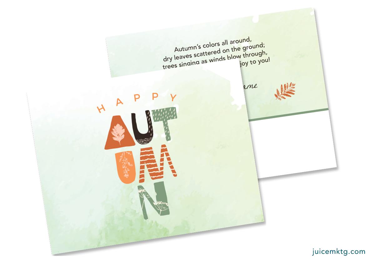 Autumn - Postcard