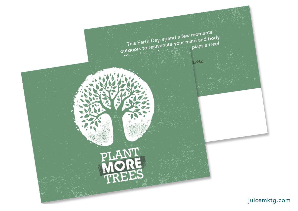 Earth Day - Trees - Postcard