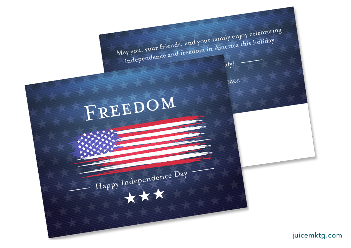 Fourth of July - Freedom - Postcard