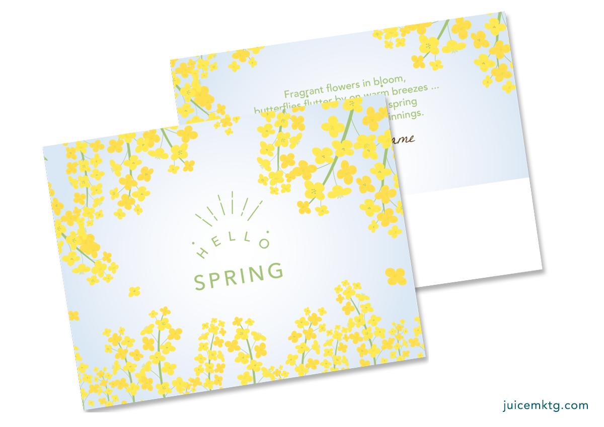 Hello Spring - Postcard