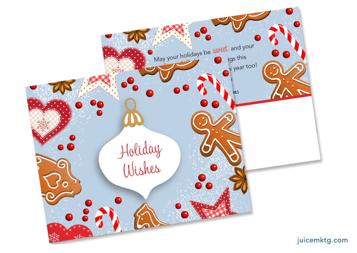 Holiday Wishes - Cookies - PostCard