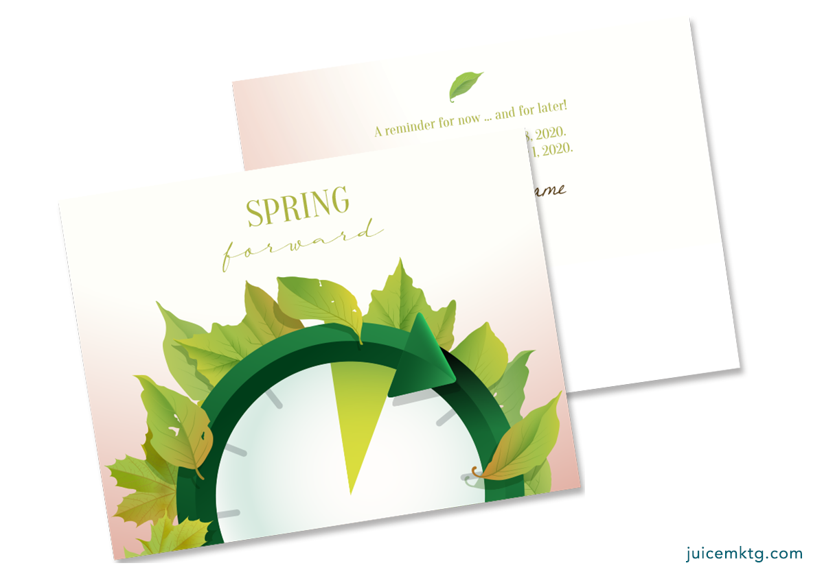 Daylight Saving - Spring Forward - Postcard