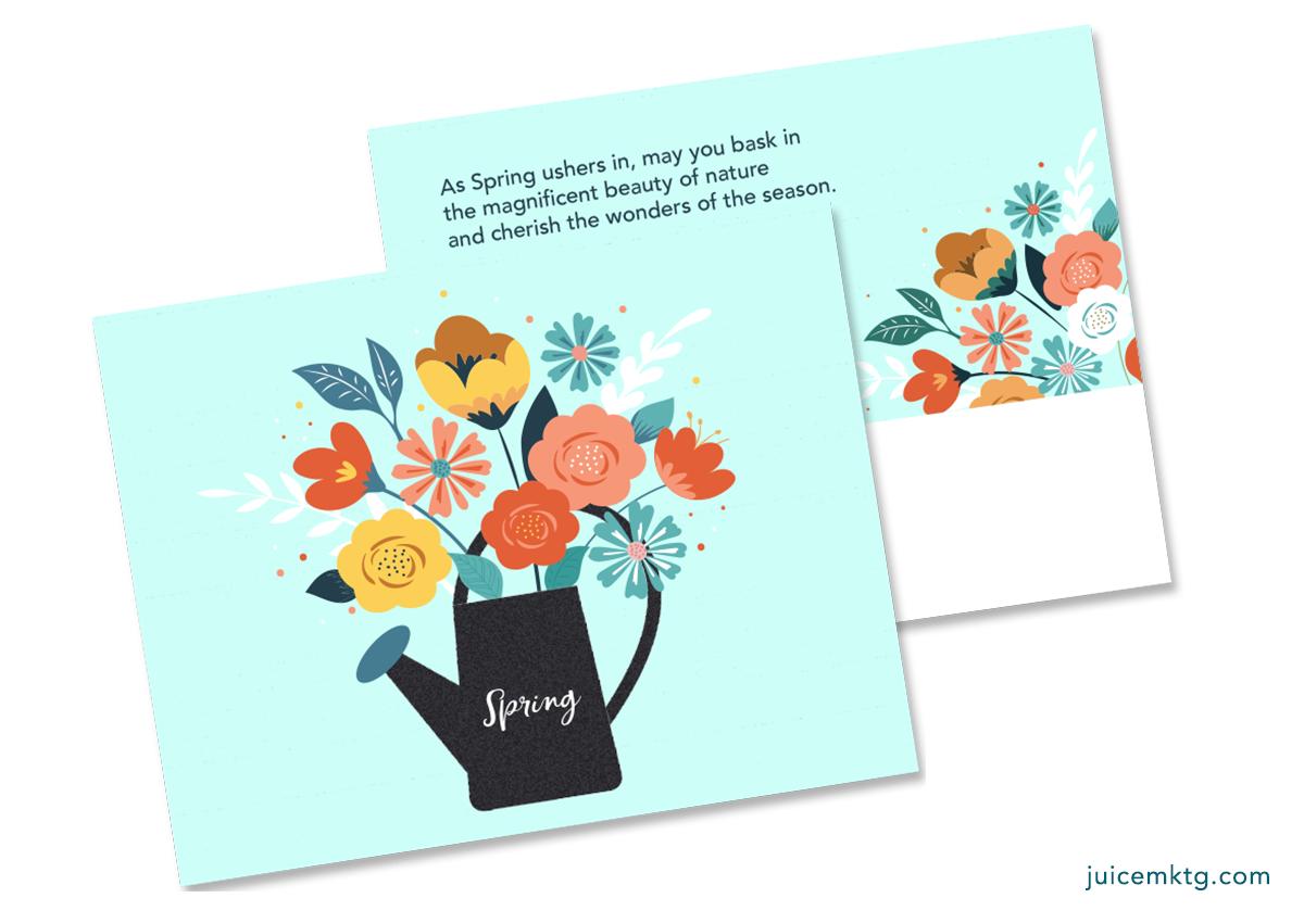 Spring - Bouquet - Postcard