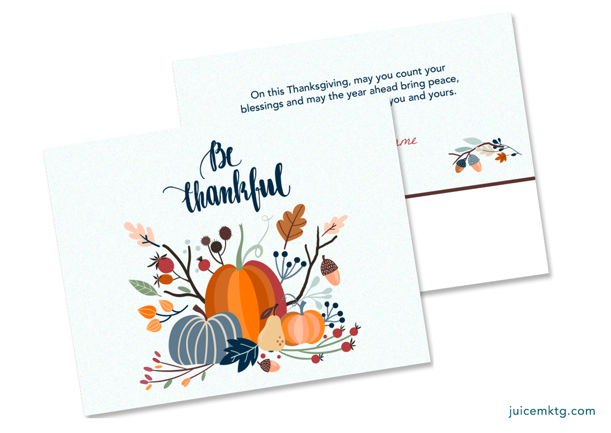 Thankful - Postcard (Thanksgiving to New Year's)