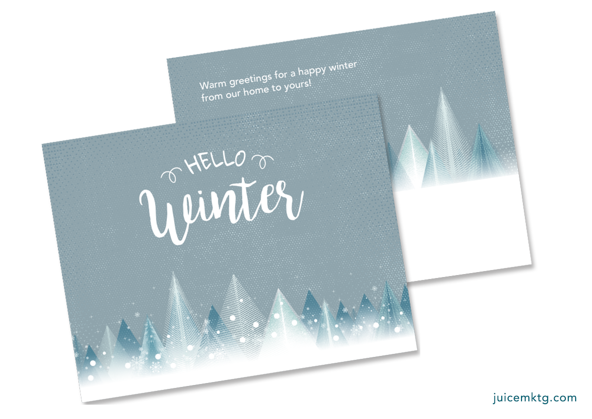 Welcome Winter - Postcard