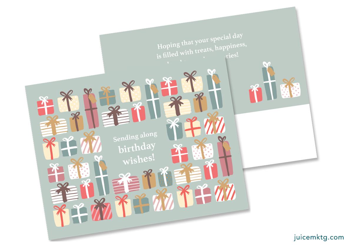 Birthday Presents - Postcard