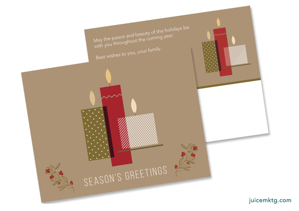 Seasons Greetings - Candles - Postcard