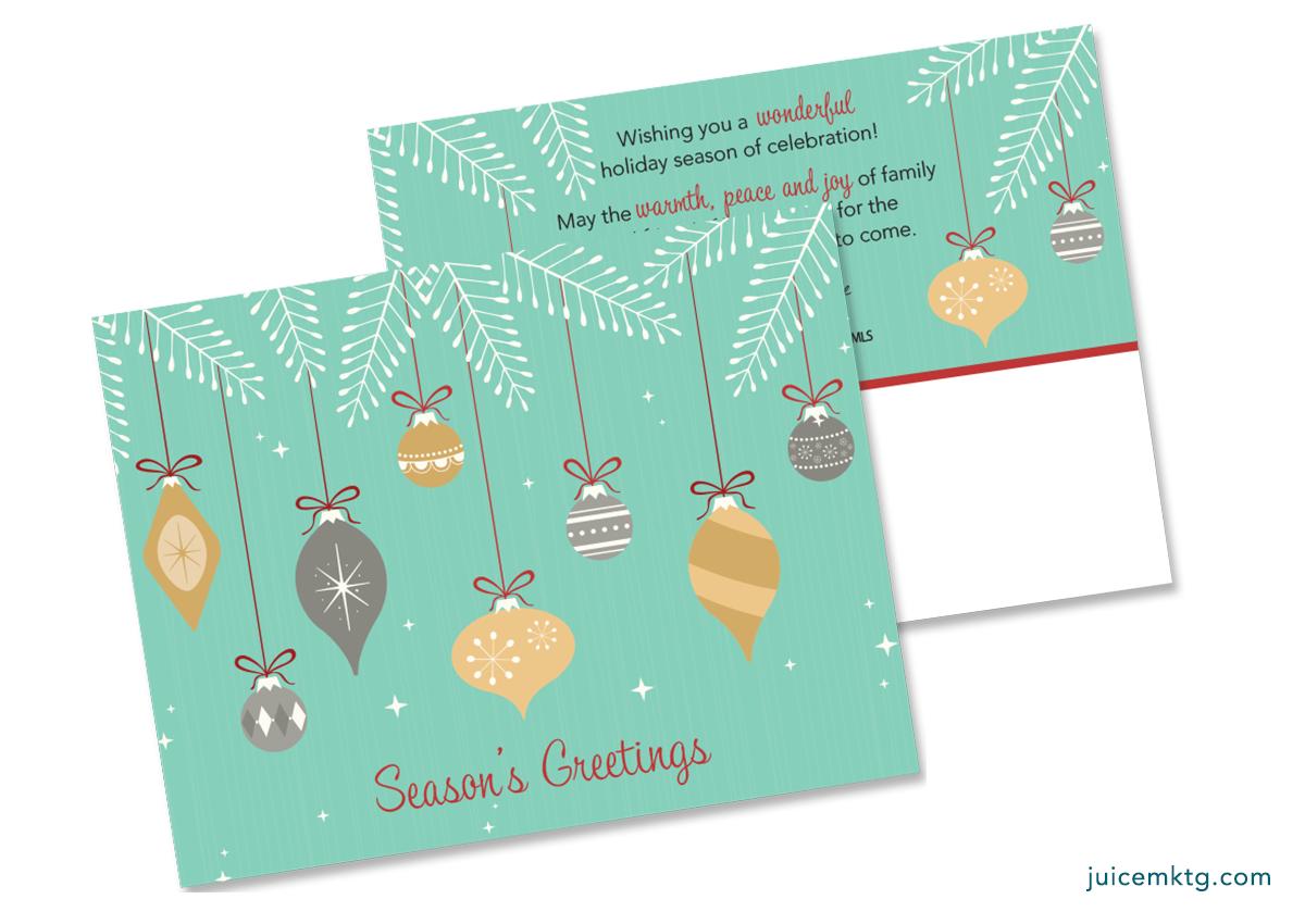 Seasons Greetings - Ornaments - Postcard