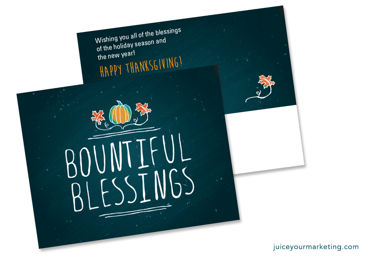 Holiday Season - Bountiful Blessings - Postcard
