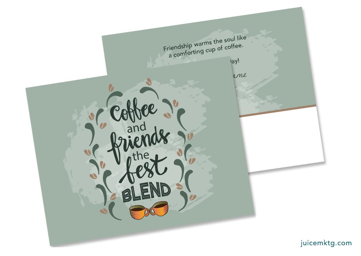 Friendship Day - Coffee - Postcard