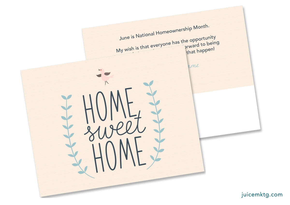 Homeownership Month - Home Sweet Home - Postcard