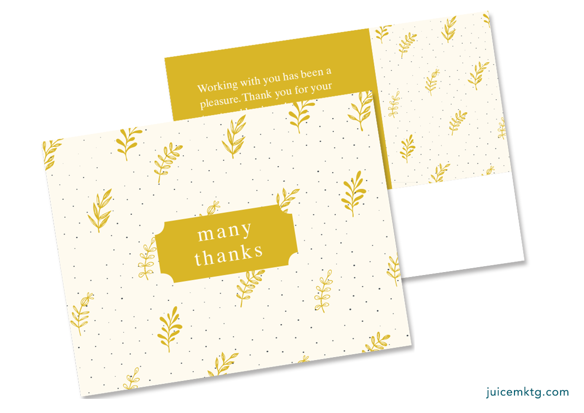 Thank You - Yellow - Postcard