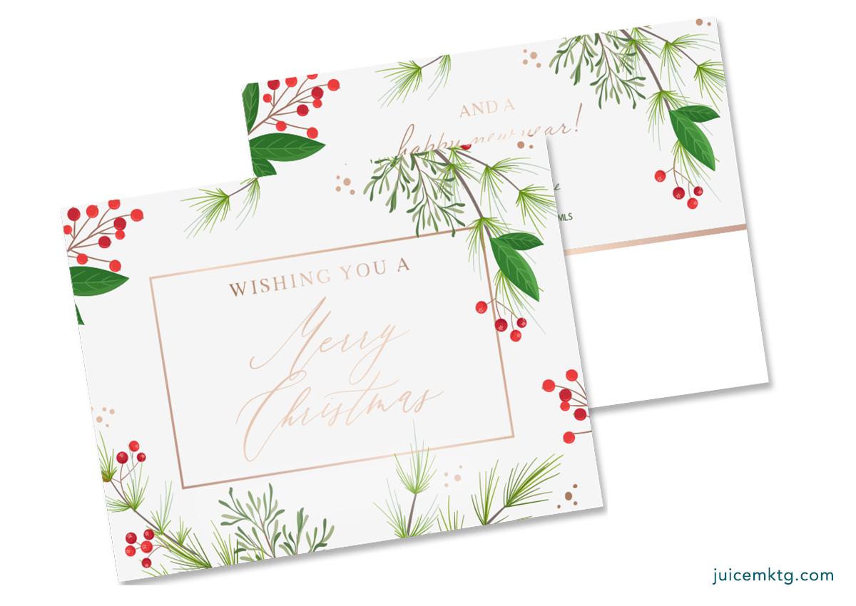 Christmas Greenery - Postcard