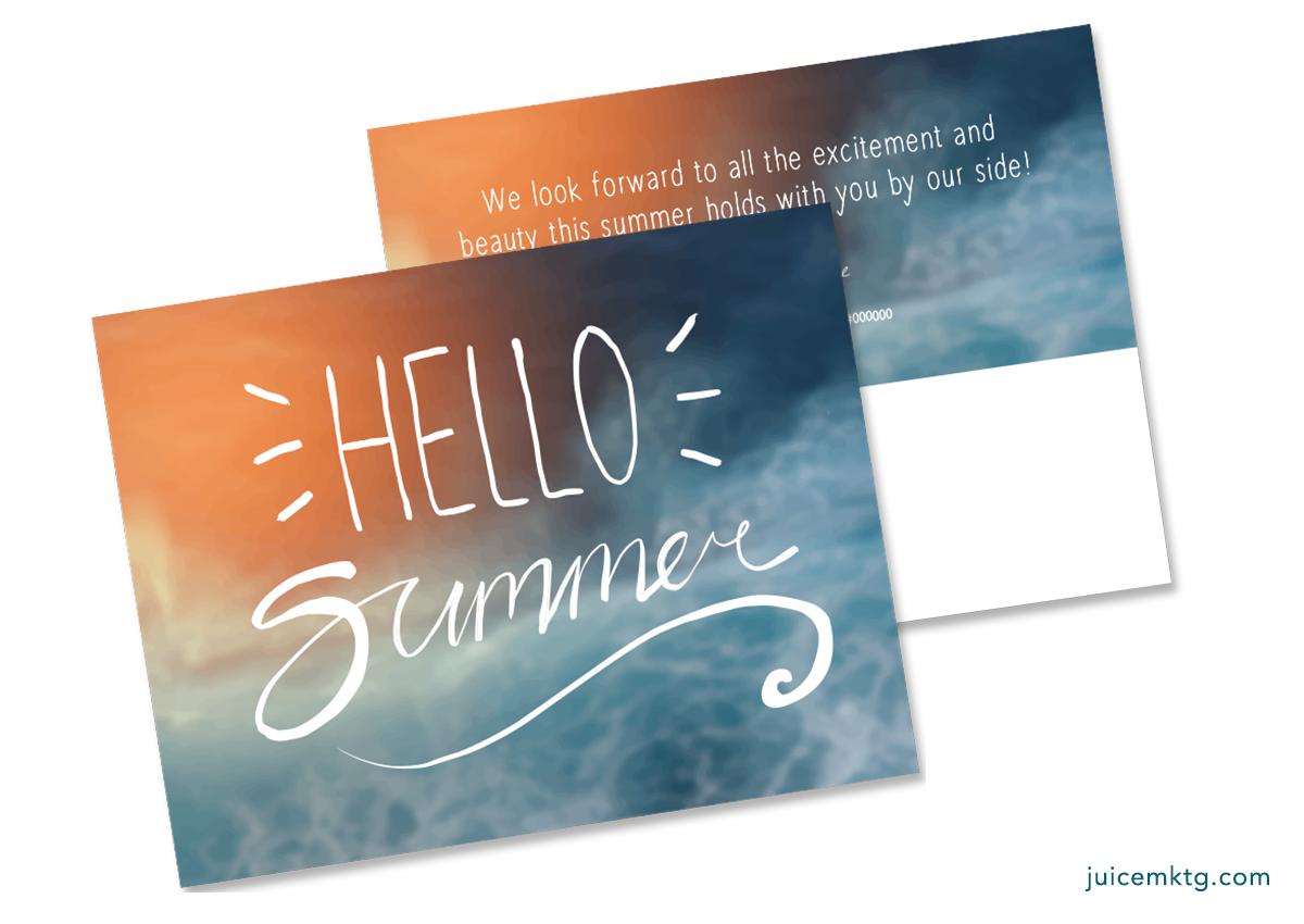 Hello Summer - Postcard