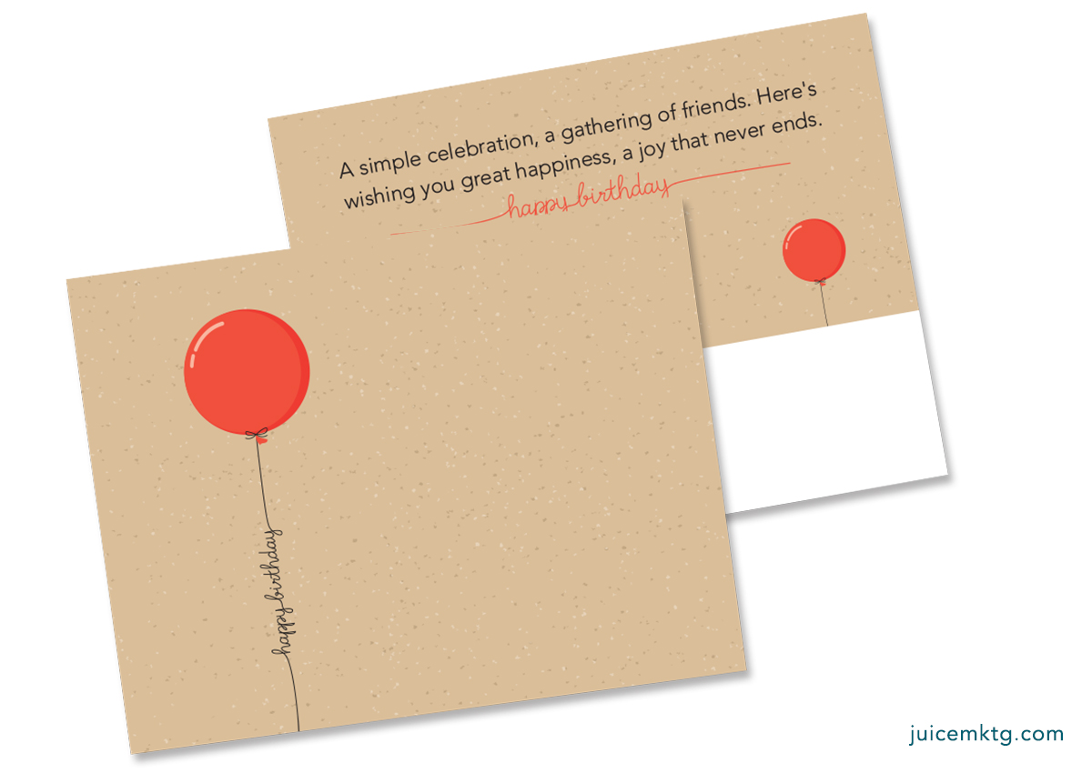 Simple Balloon - Birthday Postcard
