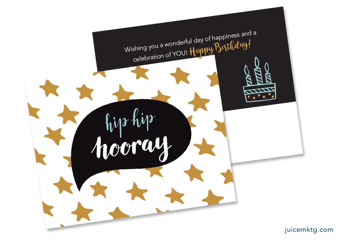 Hip Hip Hooray - Postcard