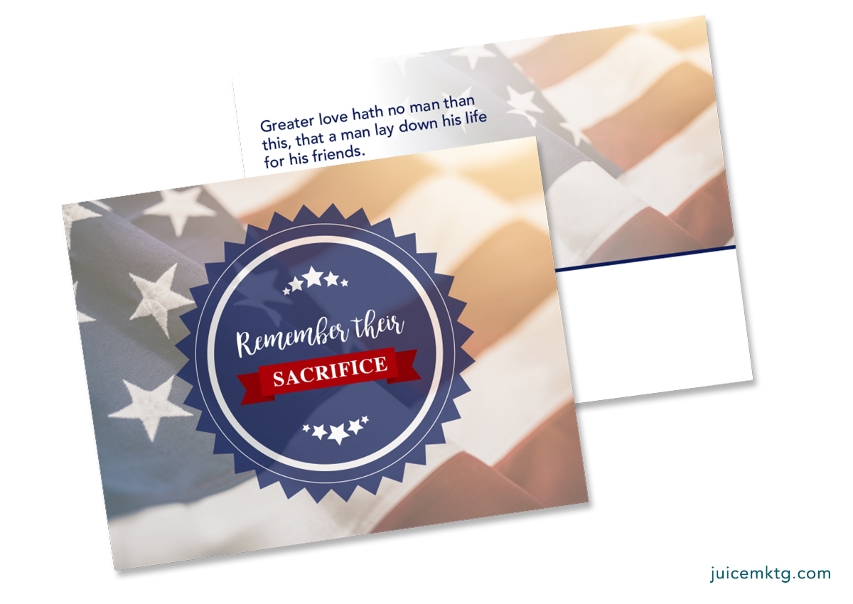 Memorial Day - Scripture - Postcard