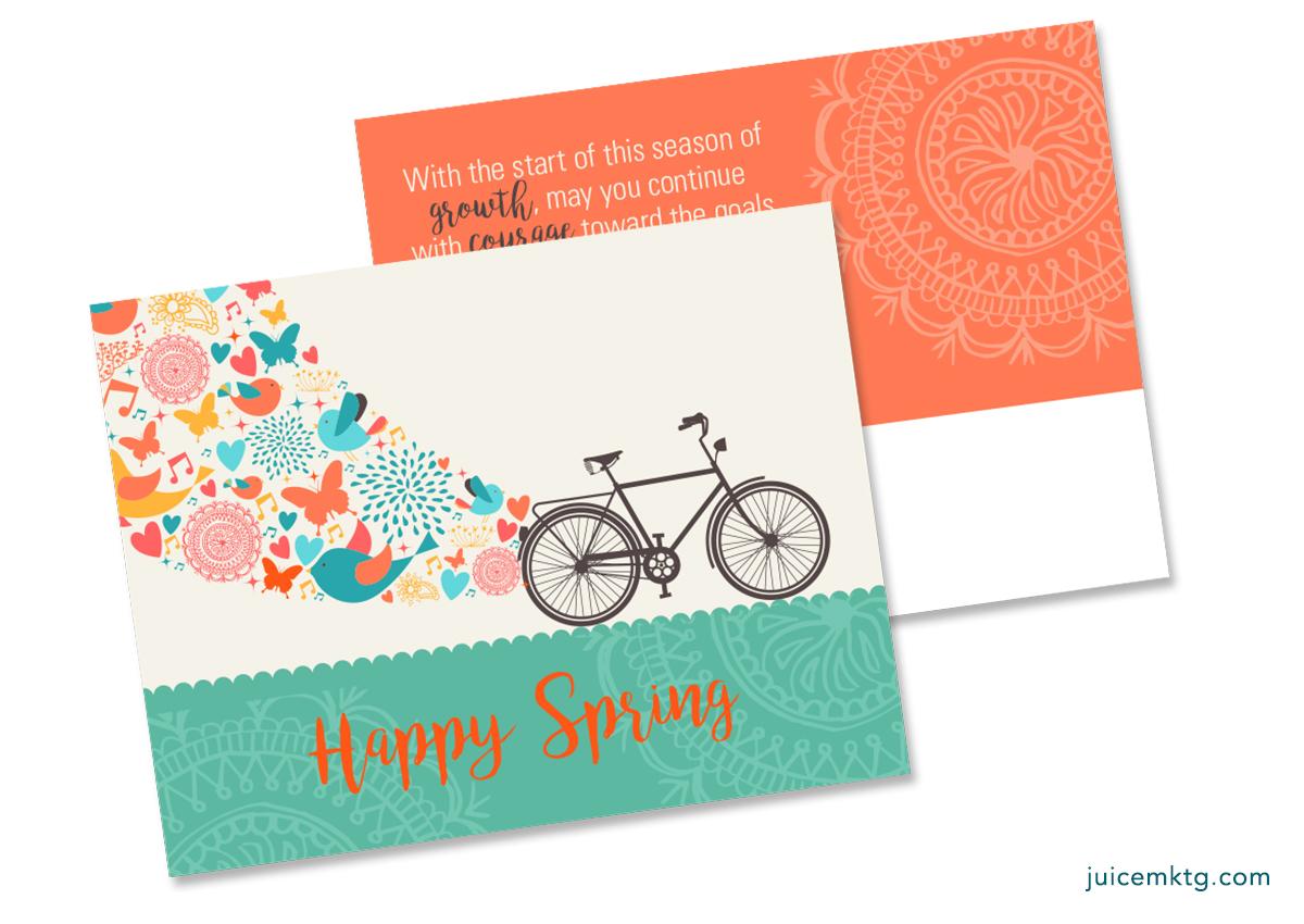 Happy Spring Bike Postcard