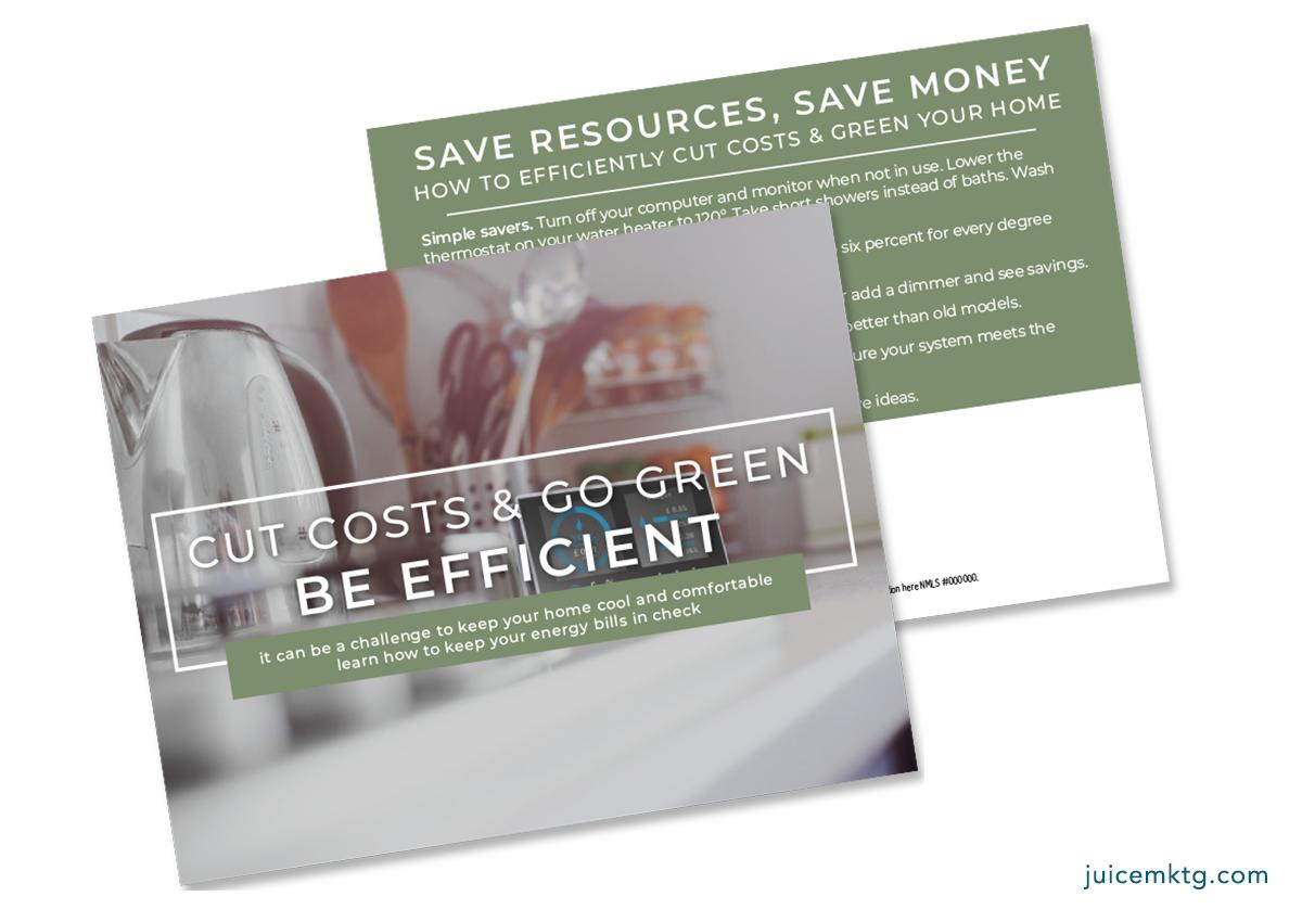 Cut Costs & Go Green