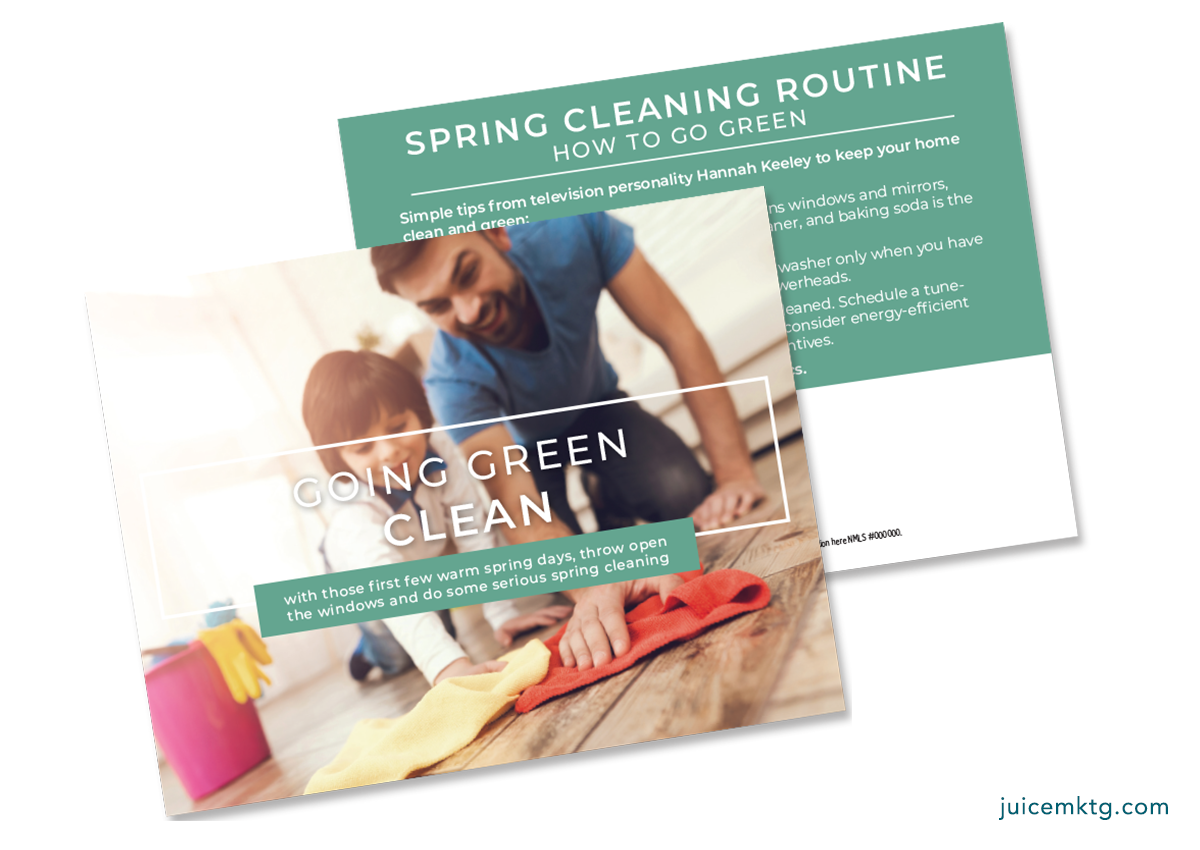 Spring Cleaning, Going Green