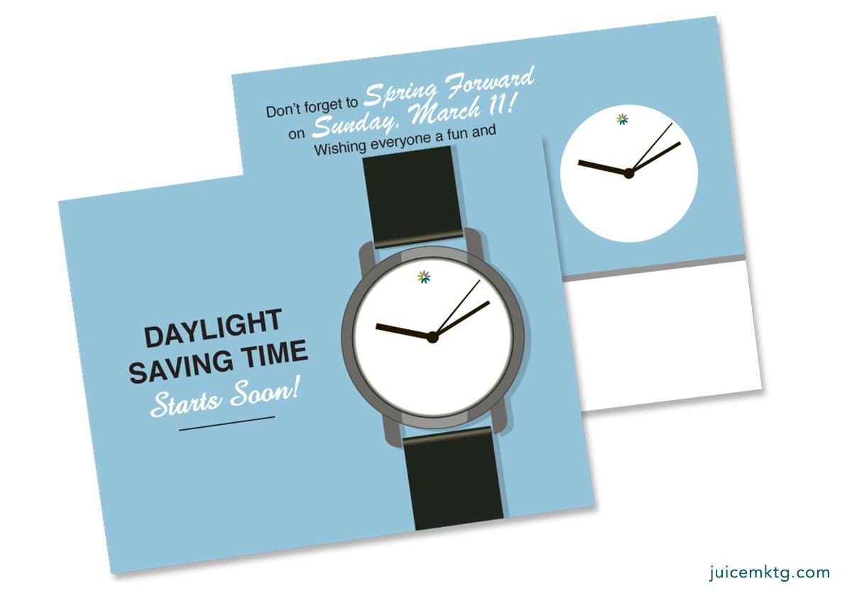 Daylight Saving - Watch - Postcard