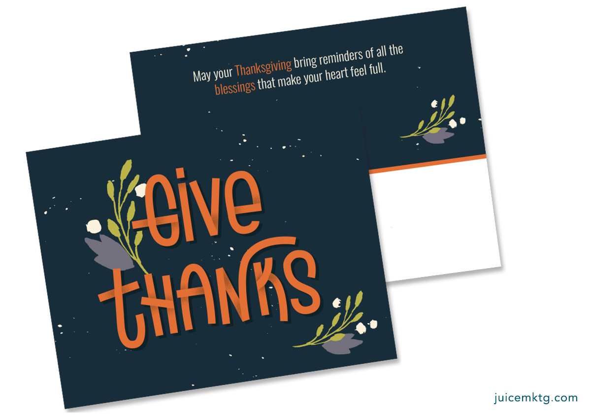Black Give Thanks - Postcard