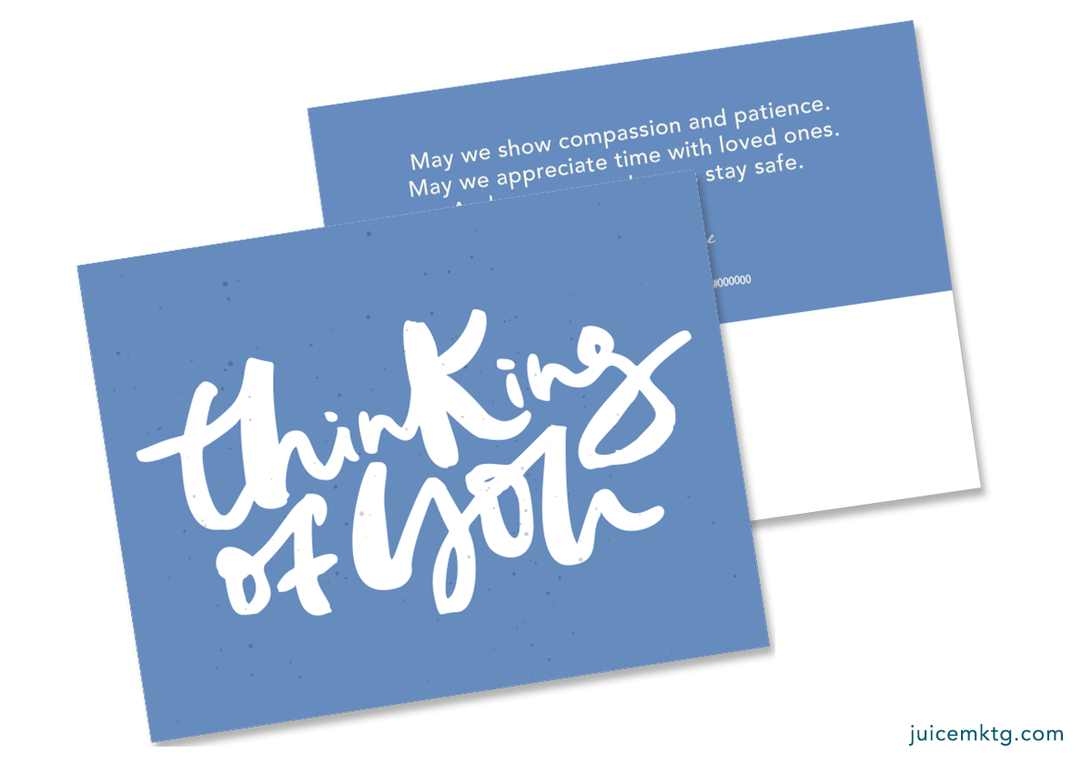 Thinking of You - Blue - Postcard
