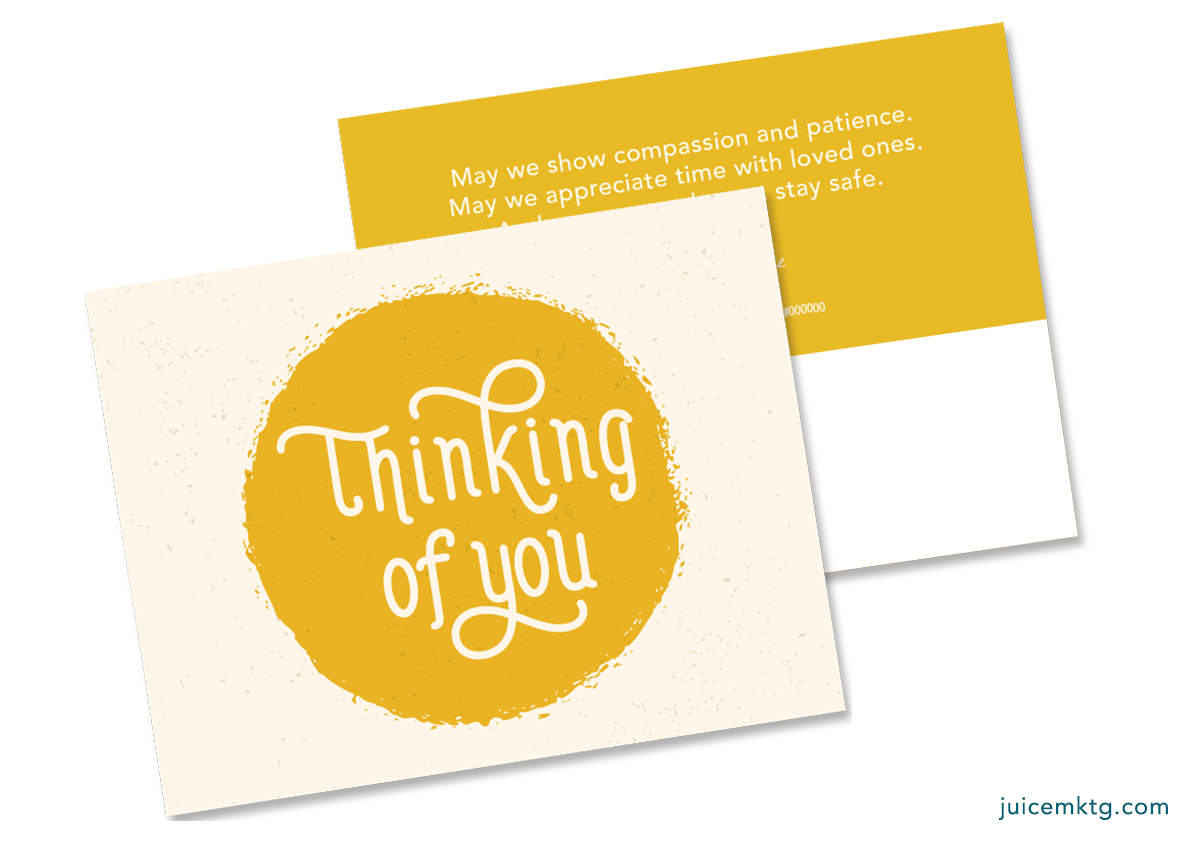 Thinking of You - Yellow - Postcard
