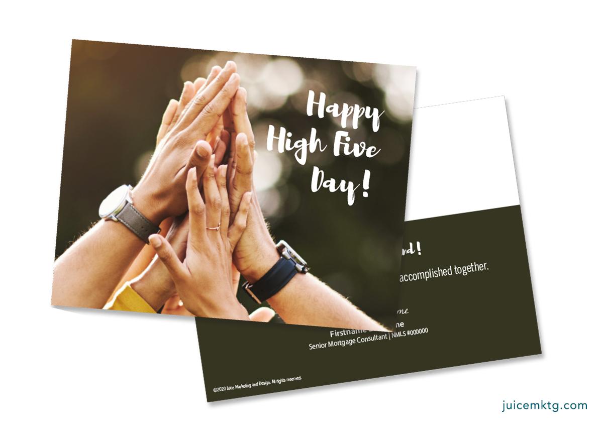 April 16, High Five Day - Postcard