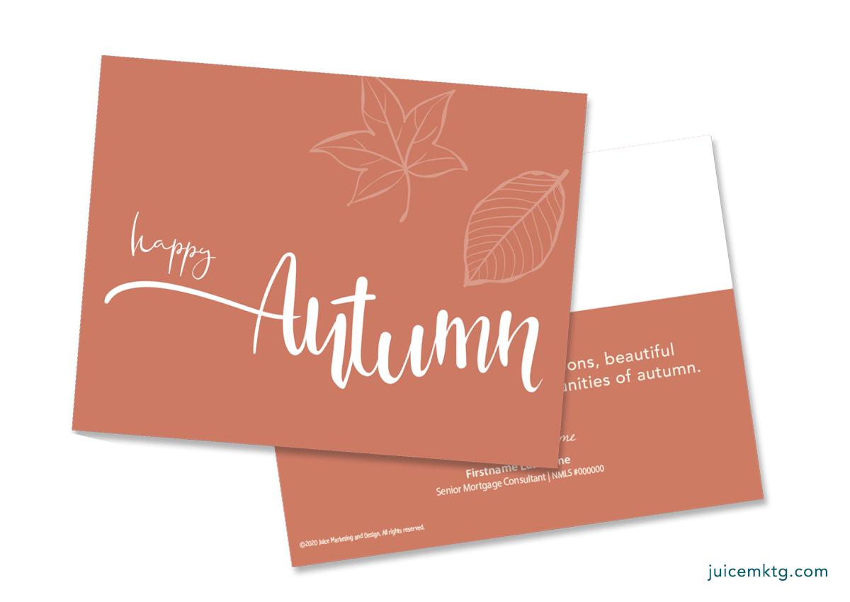 Autumn - Simplicity Postcard