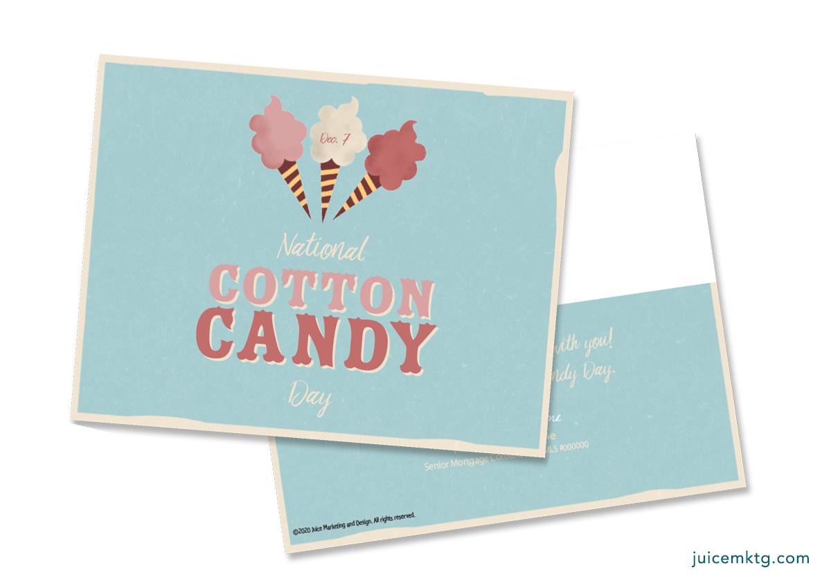 Dec. 7, Cotton Candy Day - Postcard