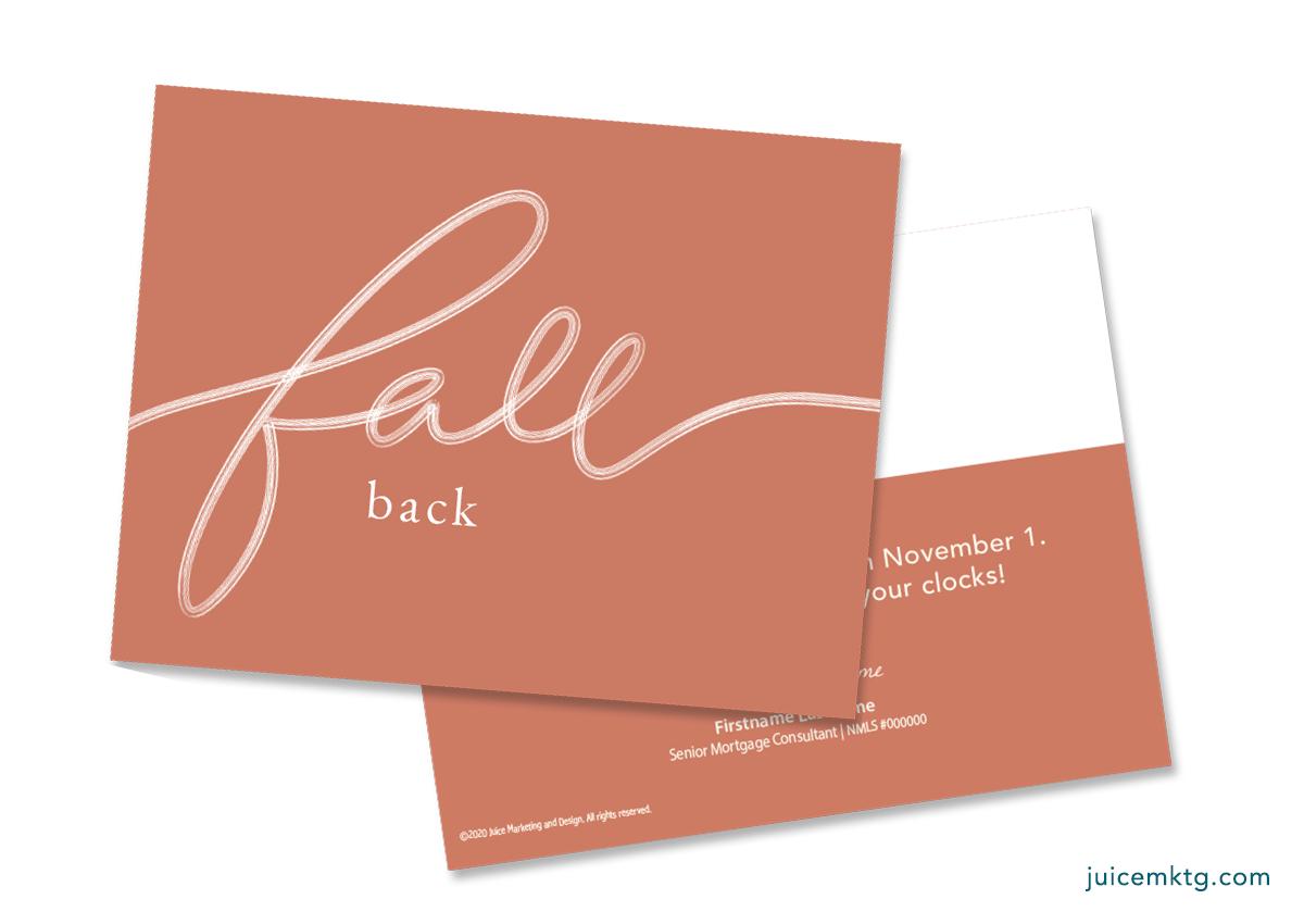 Fall Back - Simplicity Postcard